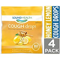 4 Pack SoundHealth Honey Lemon Cough Drops 80 Count Bag