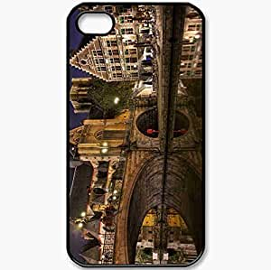 Protective Case Back Cover For iPhone 4 4S Case Bridge Black