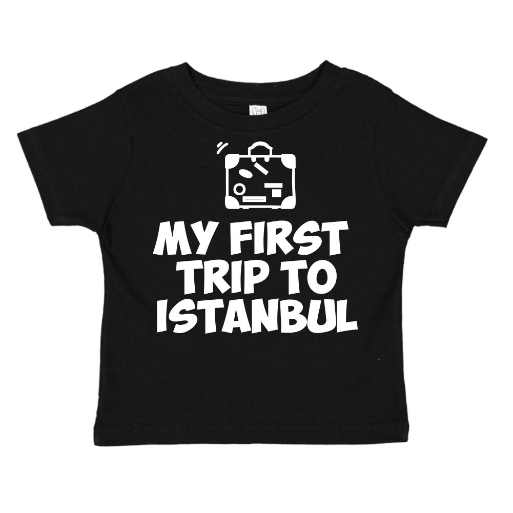 Toddler//Kids Short Sleeve T-Shirt Mashed Clothing My First Trip to Istanbul