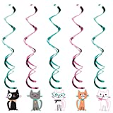 Creative Converting 329403 Purr-Fect Party 30-Count Dizzy Dangler Decorative Streamers