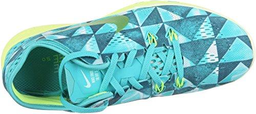 Nike Free Tr 5 Stampa Delle Scarpe Delle Donne Di Cross Training Lt Retrò / Volt-artsn Verde Acqua-bianco