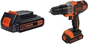 BLACK+DECKER LBXR20 20-Volt MAX Extended Run Time Lithium-Ion Cordless To with BLACK+DECKER BDCDMT120C 20-Volt MAX Lithium-Ion Matrix Drill/Driver
