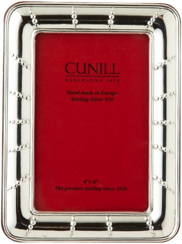 Cunill Silver Solar  Frame In .925 Sterling Silver, with Wood-Look Back and Easel For 3-1/2-Inch by 5-Inch Photograph by Cunill Silver