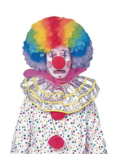 Forum Novelties Men's Jumbo Rainbow Clown Costume Wig, One Size -