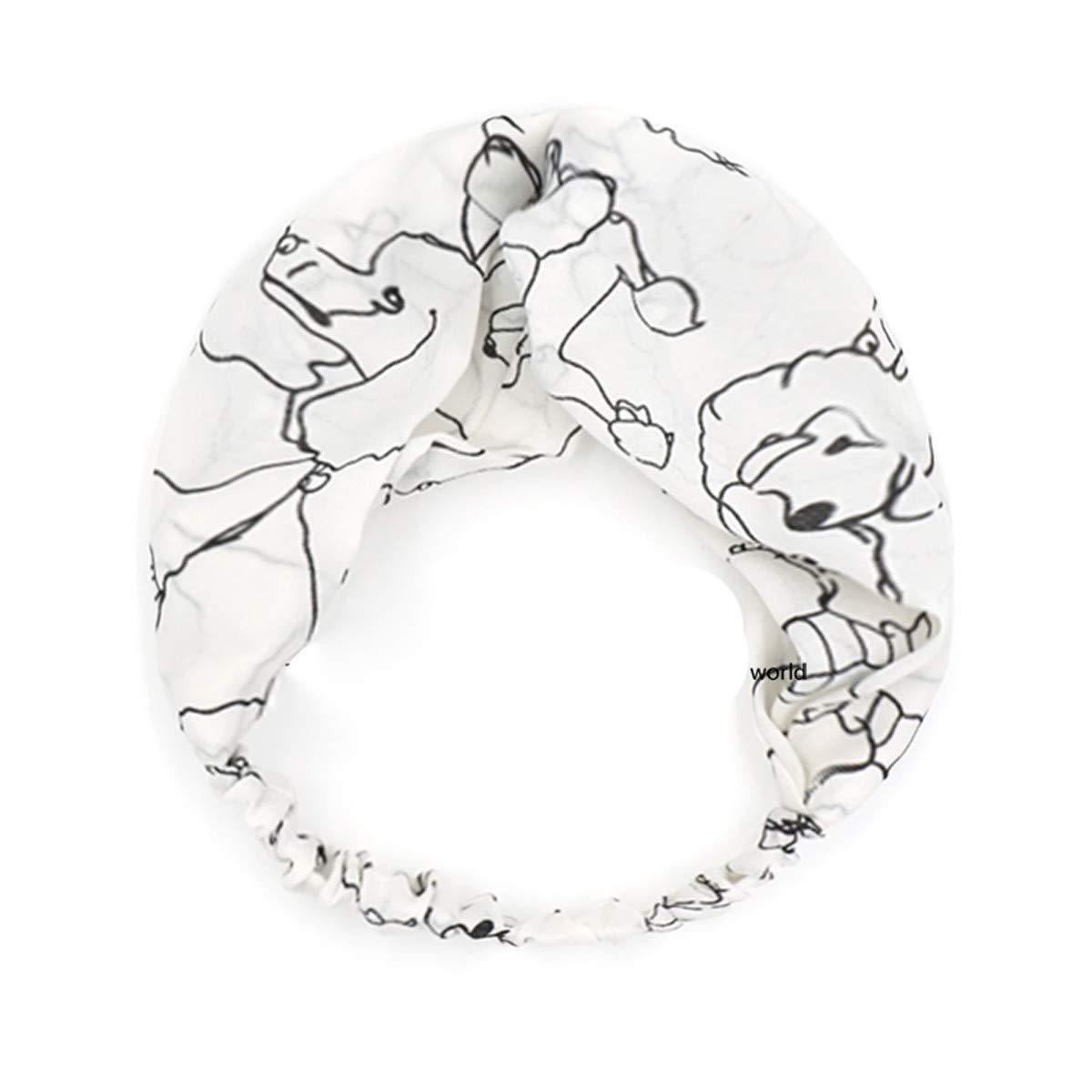 Olici Fascia per Capelli Donna La Moda Stampa Croce Arte Linee Scherzando Parrucchieri Parrucchieri Gomito Gomito