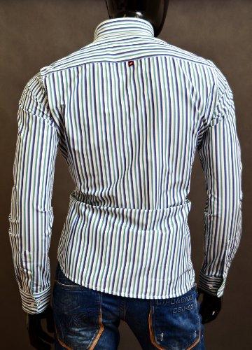 Chemise à carreaux motif de style de superbes finitions vertes col classique de coupe poignets doubles