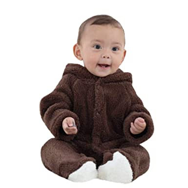 ae730f16d Amazon.com  Newborn Infant Baby Girl Boy Winter Clothes Snowsuit ...