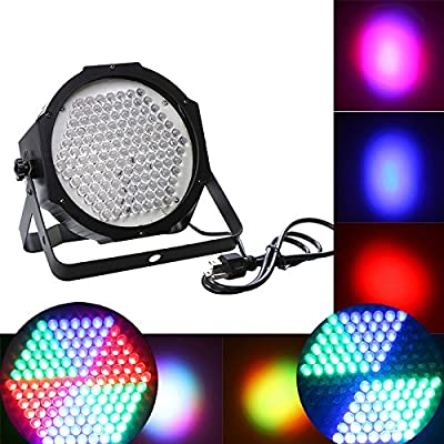 KKmoon AC 90-240V 127 RGB LED Stage Light Party Show DMX 512 Lighting Disco Projector with US Plug for Christmas,Wedding Party