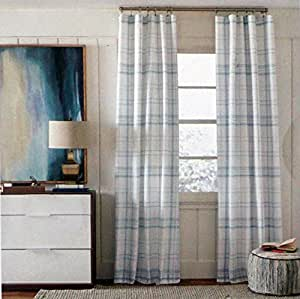 Amazon Com Tommy Hilfiger Window Curtain Panels 50 Inches