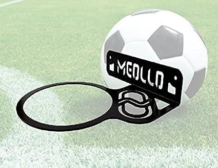 MEOLLO Soporte balón de fútbol (100% Acero) (Negro): Amazon.es ...