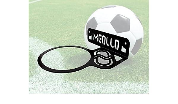 MEOLLO Soporte balón de fútbol (100% Acero) (Blanco): Amazon.es ...