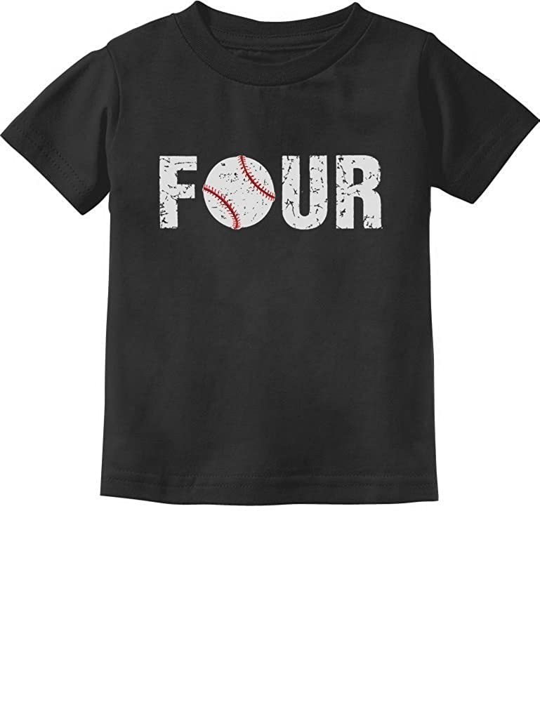 TeeStars 4th Birthday Gift for Four Year Old Baseball Toddler Kids T-Shirt