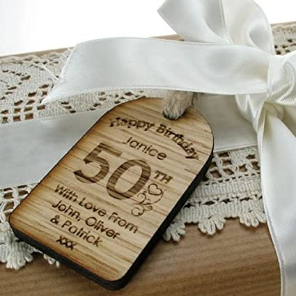 Personalised 50th Birthday Gifts Womens 50th Birthday Gift 50th Birthday Novelty Gifts 50th Presents For Women 50th Birthday Gift Tag Unusual 50th Birthday Gift Ideas Amazon Co Uk Office Products