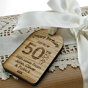 Personalised 50th Birthday Gifts Womens Gift Novelty