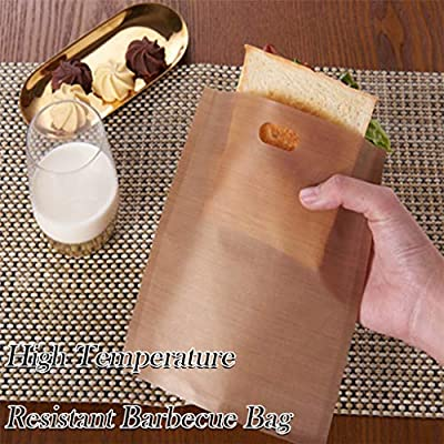 A: 6.3 x 6.5 Microwave Oven Bag,Reusable Non-Stick Grilled Toast Bag High Temperature Grilled Barbecue Bag,Best Quality Parchment Bags for Cooking//Parchment Gourmet Cooking Bag,10 Bags Per Pack