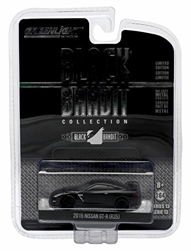 R35 Series (2015 NISSAN GT-R (R35) * Black Bandit Collection Series 13 * 2015 Greenlight Collectibles Limited Edition 1:64 Scale Die-Cast Vehicle)