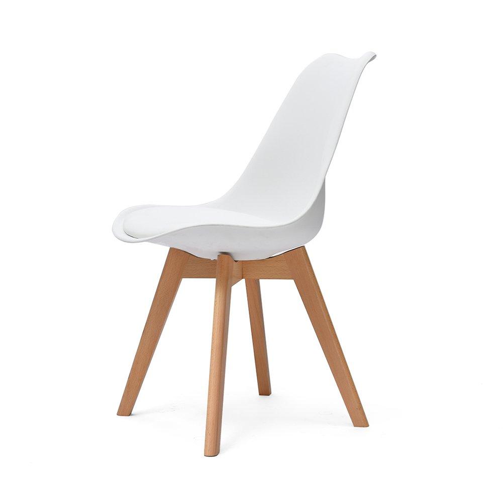 オフィスデスクの椅子シンプルなモダンな背もたれの家庭用リビングルーム (色 : 白, サイズ さいず : Set of 2) B07F9W25X6 Set of 2 白 白 Set of 2