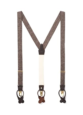 4790b0adc40 Tuxedo Suspenders with Genuine Leather Detailing   Classic Y Back Design