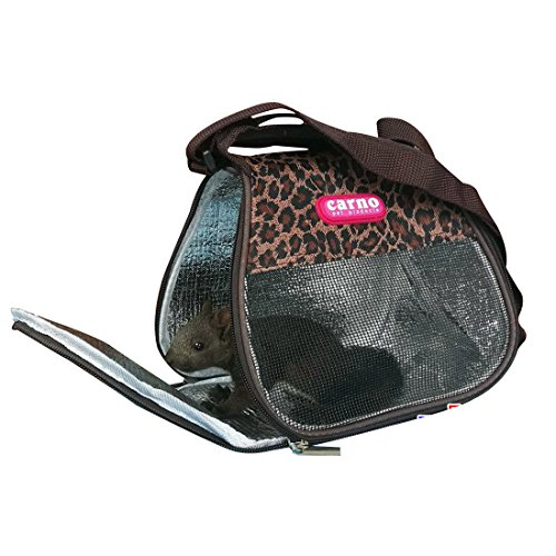 Jiyaru Small Animals Carrier Breathable Mesh Tote Travel Pouch Shoulder Bag Coffee