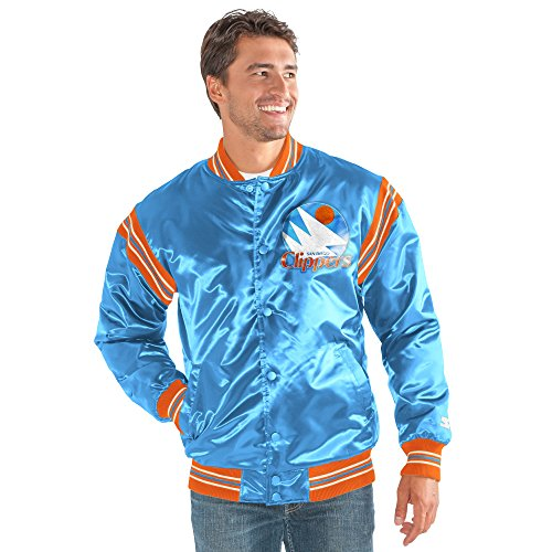 STARTER NBA San Diego Clippers Men's The Enforcer Retro Satin Jacket, Medium, Blue