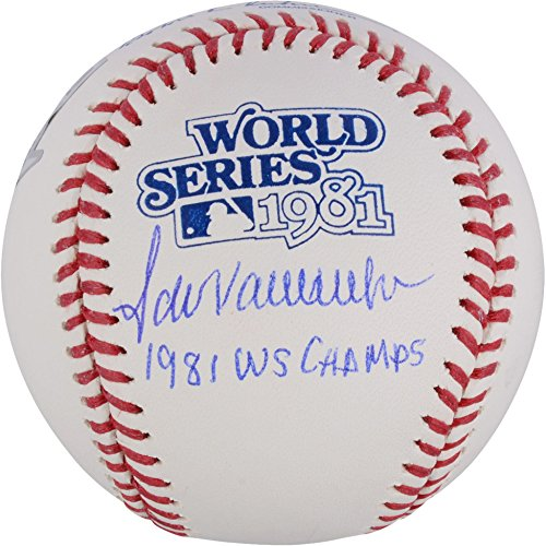 Signed Dodgers World Series - Fernando Valenzuela Los Angeles Dodgers Autographed 1981 World Series Logo Baseball with 1981 WS Champs Inscription - Fanatics Authentic Certified