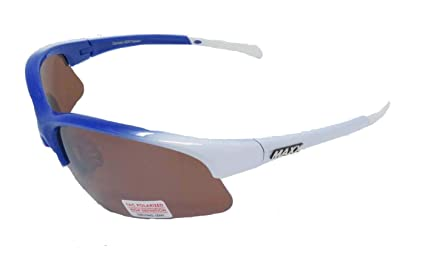 010f8597bb Image Unavailable. Image not available for. Color  Maxx Sunglasses 2018 TR90  Maxx Domain Blue White Polarized HD Amber Lens