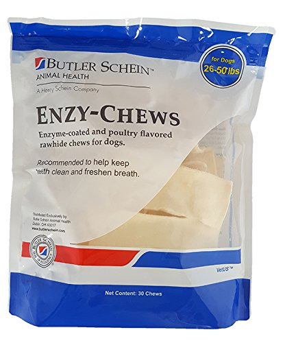Butler Enzy Oral Care Chews for Dogs 26-50 lbs - 30 Chews