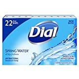 Dial Antibacterial Deodorant Bar Soap, Spring Water, 4-Ounce Bars, 10 Count (Pack of 3)