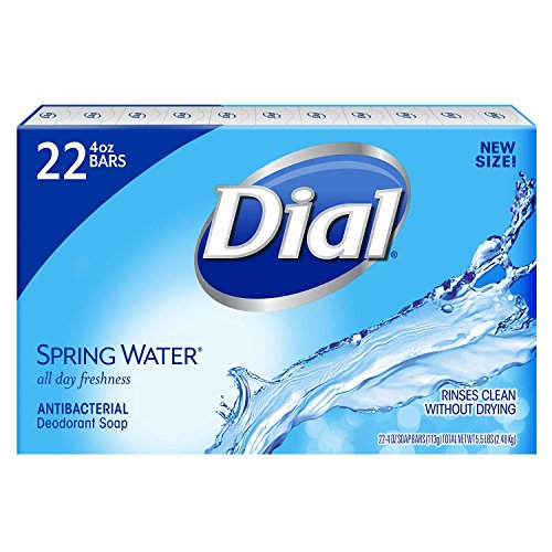 Dial Antibacterial Deodorant Soap, Spring Water (4.0 oz, 22 ct.) (4 Ounce Soap Eco)