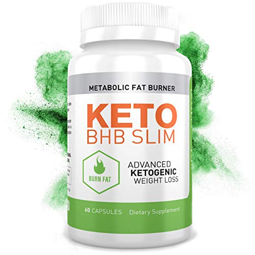 hotSKU Keto BHB Slim Diet Pills - Perfect Natural Supplement to Help Burn Fat with Ketosis - Boost Metabolism and Energy - Best Keto Supplements for Women and Men - 60 Capsules - Made in USA
