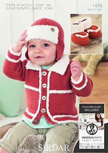 Sirdar Baby Snuggly Snowflake Dk Cardigan Hat Booties Knitting