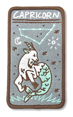 O'Houlihans - Capricorn Zodiac Patch - Iron on Patch - Embroidery Patch - Zodiac Morale - Sign Horoscope Capricorn Zodiac