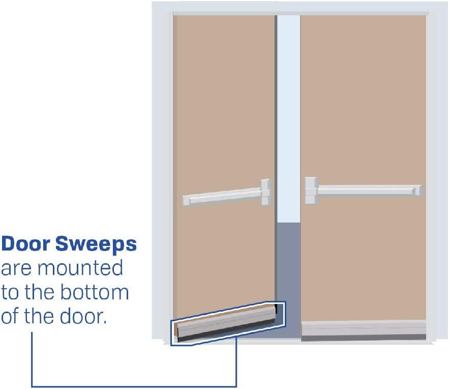 42 Fire Rated//Aluminum Door Sweep with Neoprene Rubber Extrusion #739