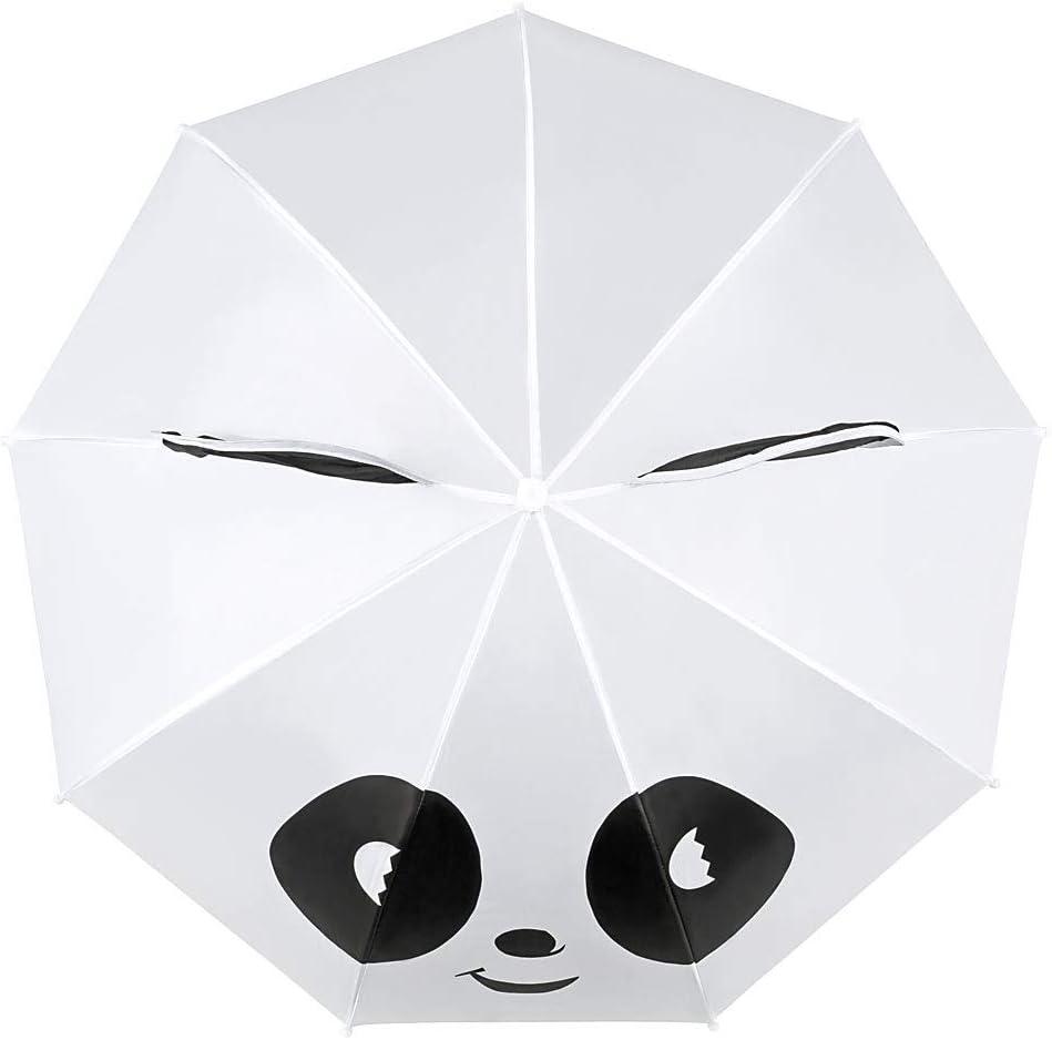 VON LILIENFELD/® Ombrello Ragazzi Ragazze Bambini Motivo Panda Fino a 8 anni