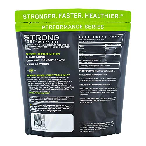 STRONG Muscle Builder by SFH Creatine Glutamine Serum Beef Protein for Lean Muscle Growth Strength Keto Creatine Workout Supplements for Men Women Free of Gluten Sugar Soy GMO 1.19lb Bag
