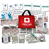 Premium First Aid Kit Trauma Safety Bag 108 Pieces for Travel Car Home Camping Work Survival plus Mouth to Mouth Mask