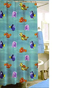 Jay Franco Disney Finding Nemo Shower Curtain W/ 12 Hooks Part 60