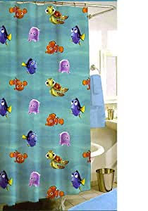 Disney finding nemo shower curtain w 12 hooks - Finding nemo bathroom sets ...