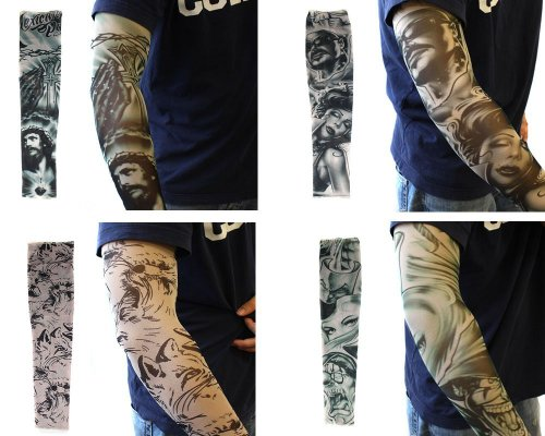 d24e4f44191 Efivs Arts 20pc Fake Temporary Tattoo Sleeves Body Art Arm Stockings  Accessories - Designs Tribal