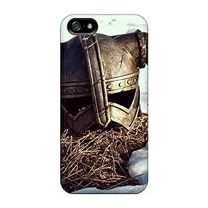 Hot Design Premium VRq13891IPVZ Cases Covers Iphone 5/5s Protection Cases(skyrim Helmet)