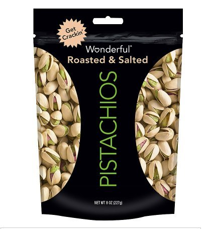 2 Pack - Wonderful Roasted & Salted Pistachios 8.0 oz.