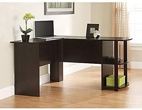 Amazon Com L Shaped Computer Laptop Desk With Side Storage In