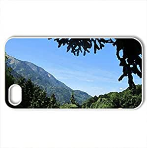 Annecy - France #13 - Case Cover for iPhone 4 and 4s (Forests Series, Watercolor style, White)