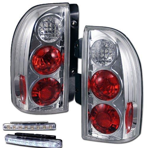 1999-2004 SUZUKI GRAND VITARA REAR BRAKE CLEAR TAIL LIGHTS+DRL LED RUNNING (Grand Vitara Tail)