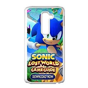 Special Design Cases LG G2 Cell Phone Case White Sonic Lost World Qzorm Durable Rubber Cover