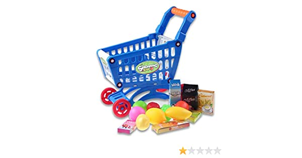 Amazon.com: Legros Kid Educational Toy Fruit Vegetable Supermarket Shopping Cart Mini Trolley: Toys & Games