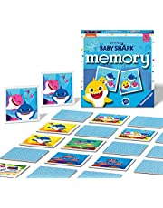 Ravensburger Baby Shark Mini Memory Game - Matching Picture Snap Pairs Game for Kids Age 3 Years and Up