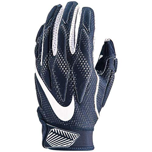 Nike Youth Superbad 4.5 Football Gloves (College Navy/College Navy/White, Large) (Gloves College Nike Football)