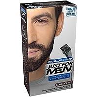 JUST FOR MEN Color Gel Mustache & Beard M-55 Real Black 1 Each