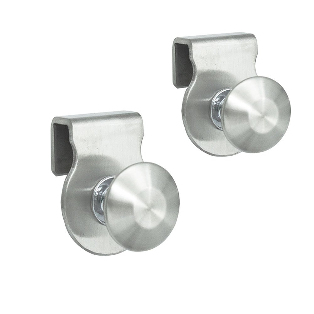 Eforlike 2 Pcs Stainless Steel Bathroom Shower Glass Door Knob Handles